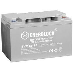 Akumulator ENERBLOCK AGM Traction EVM12-75 12V 75Ah