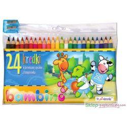 Kredki 24 kolory + temperówka Bambino