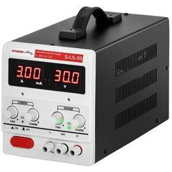 Stamos Soldering Zasilacz laboratoryjny - 0-30 V - 0-3 A DC - LED S-LS-33 - 3 LATA GWARANCJI
