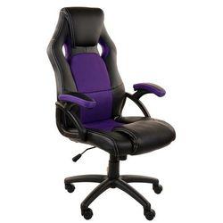 Fotel biurowy GIOSEDIO czarno-fioletowy,model RCA010