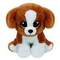 Pozostałe lalki i akcesoria, Beanie babies snicky - brown-white dog 15 cm