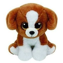 Beanie babies snicky - brown-white dog 15 cm