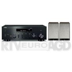 Yamaha MusicCast R-N402D (czarny), Elac Debut Reference DBR62 (czarny/orzech)