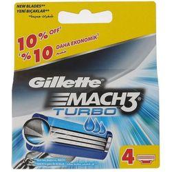 Gillette Mach3 Turbo 4szt M Wkład do maszynki do golenia