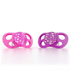 Smoczki uspokajające Twistshake Mini 0m+ - różowy/fioletowy 2 szt 7350083120823