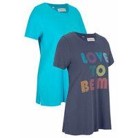 Pozostała odzież sportowa, Shirt sportowy z kolekcji Maite Kelly (2 szt.), krótki rękaw bonprix jagodowo-morski