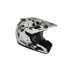 Kask motocyklowy LAZER SMX Leaves biały/czarny mat