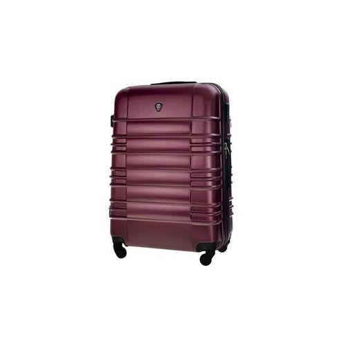 Torby i walizki, Mała walizka kabinowa abs 55x37x24cm stl838 metaliczna burgundowa