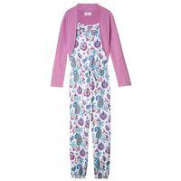 Zestawy odzieżowe dziecięce, Kombinezon dziewczęcy + bolerko (2 części) bonprix biało-lila