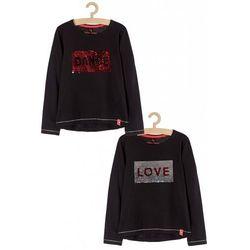 Bluzka dla dziewczynki- czarna 4H3712 Oferta ważna tylko do 2023-02-21
