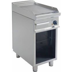 Grill elektryczny | ryflowany | 395x530mm | 400V / 5,4 kW