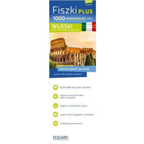 Książki do nauki języka, FISZKI PLUS 1000 NAJWAŻNIEJSZYCH SŁÓW WŁOSKI DLA POCZĄTKUJĄCYCH + CD (opr. kartonowa)