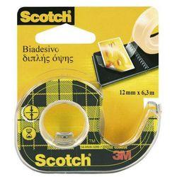 Taśma klejąca 3M Scotch Double Sided 12mmx6,3m transparentna 136D