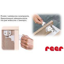 Zabezpieczenie szafek magnetyczny zamek 2szt, REER - 2szt