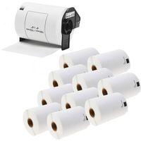Papiery i folie do drukarek, Zestaw 1 + 10 Taśma Brother DK-11241 102mm x 152mm do drukarki etykiet - zamiennik