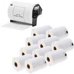 Zestaw 1 + 10 Taśma Brother DK-11241 102mm x 152mm do drukarki etykiet - zamiennik
