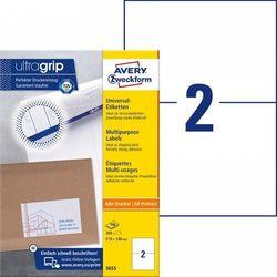 Trwałe etykiety uniwersalne Avery Zweckform A4 100ark./op. 210x148mm białe
