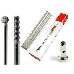 Szprychy CNSPOKE STD14 2.0-2.0-2.0 stal nierdzewna 202mm srebrne + nyple 144szt.