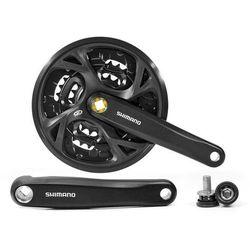 Mechanizm korbowy Shimano FC-M371 175mm 44x32x22T czarna z osłoną