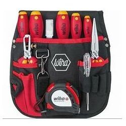 Wysokiej jakości narzędzia WIHA w praktycznej torbie narzędziowej z rączką. Torba o wymiarach w przybliżeniu 33 x 27 x 5,5 cm.