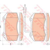 Klocki hamulcowe, KLOCKI HAM TRW GDB1812 ALFA MITO 1.4TB 08-/ FIAT GRANDE PUNTO 1.4 ABARTH 07-