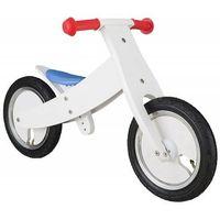 """Rowerki biegowe, Rowerek biegowy dwukołowy Bike Star 12"""" drewniana obracana rama 2 w 1 biały"""