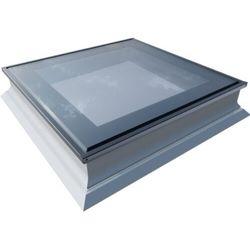 Okno do dachów płaskich OKPOL PGX B1 PVC 140x140 nieotwierane 3-szybowe