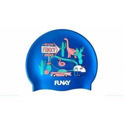 Funky Trunks Silicone Swimming Cap Men, niebieski/kolorowy 2020 Czepki pływackie Przy złożeniu zamówienia do godziny 16 ( od Pon. do Pt., wszystkie metody płatności z wyjątkiem przelewu bankowego), wysyłka odbędzie się tego samego dnia.