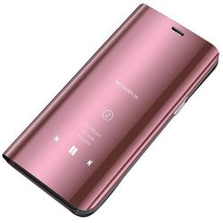 Clear View Case futerał etui z klapką Samsung Galaxy A70 różowy - Różowy