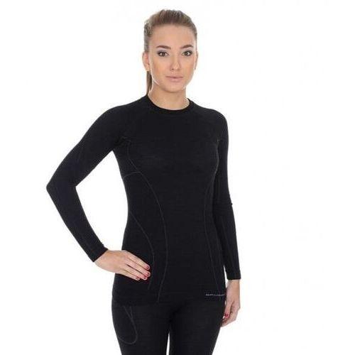 T-shirty damskie, BRUBECK koszulka ACTIVE WOOL damska czarny