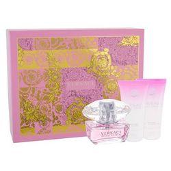 Versace Bright Crystal zestaw Edt 50ml + 50ml Balsam + 50ml Żel pod prysznic dla kobiet