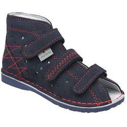 Kapcie profilaktyczne buty DANIELKI T105 T115 Granat Czerwony - Granatowy ||Czerwony ||Multikolor