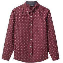 Koszula Slim Fit bonprix czerwony klonowy wzorzysty