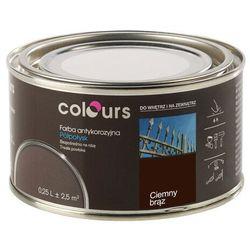 Farba antykorozyjna Colours ciemna brązowa 0,25 l