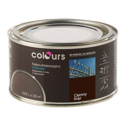 Farby, Farba antykorozyjna Colours ciemna brązowa 0,25 l