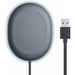 Baseus Jelly bezprzewodowa ładowarka Qi 15 W do telefonu słuchawek + kabel USB - USB Typ C czarny (WXGD-01) - Czarny Ładowarki -20% (-20%)