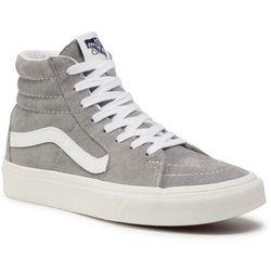 Sneakersy VANS - Sk8-Hi VN0A4BV618P1 (Pig Suede) Drizzlesnowwht