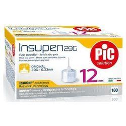Insupen Igły do penów insulinowych 29G 0,33 x 12mm x 100 sztuk