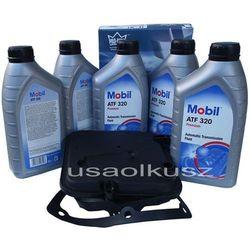 Półsyntetyczny olej MOBIL ATF320 oraz filtr oleju skrzyni biegów 4-spd Dodge Durango 2005-