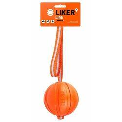 Liker 9cm na pasku taśmie - piłka zabawka aport szarpak collar dla psa