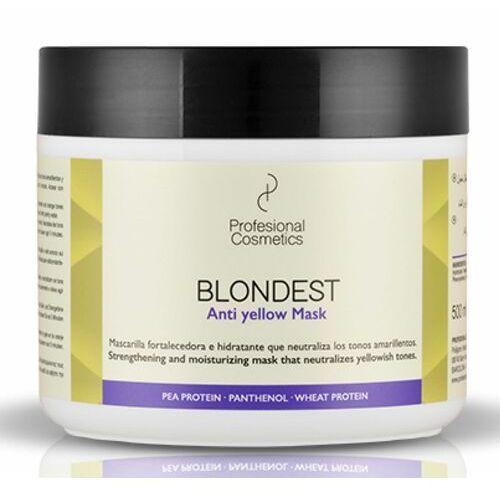 Odżywianie włosów, Profesional Cosmetics BLONDEST ANTI-YELLOW MASK Maska do włosów blondów przeciw zażółceniom