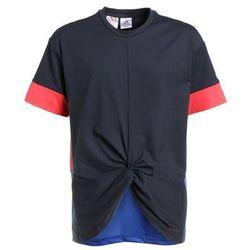 adidas Performance WOW Tshirt z nadrukiem carbon/high resolution blue/real coral