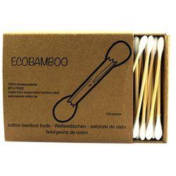 Bambusowe patyczki kosmetyczne do uszu - 100sztuk - Ecobamboo