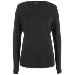 Sweter rozpinany bonprix antracytowy melanż w paski