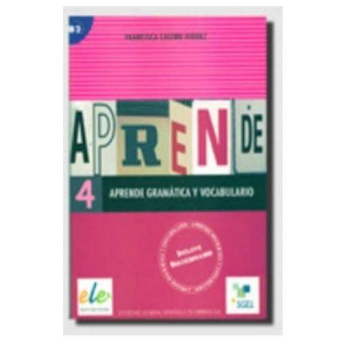 Książki do nauki języka, Aprende gramatica y vocabulario 4 (opr. miękka)