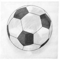 Pozostałe wyposażenie domu, Serwetki urodzinowe piłkarskie Soccer Party - 33 cm - 20 szt.