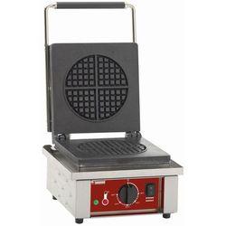 Elektryczna gofrownica na 4 zaokrąglone gofry | 1600W | 305x40x(H)230mm