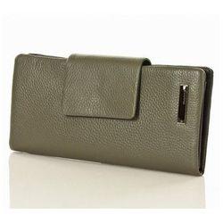 Skórzany portfel damski organizer 0930B Grey - Monnari