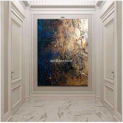 Industrialna abstrakcja - abstrakcyjne obrazy do modnego salonu rabat 10%