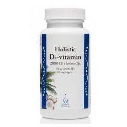 HOLISTIC D3-VITAMIN I KOKOSOLJA 2000 cholekalcyferol ekologiczny olej kokosowy witamina D, 90 KAPSUŁEK